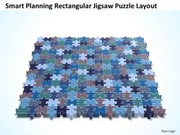 Business PowerPoint Templates smart planning rectangular jigsaw Sales Puzzle layout PPT Slides