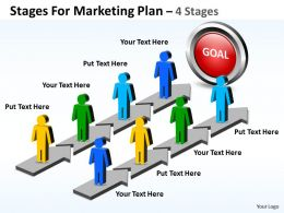 Business PowerPoint Templates stages for marketing plan Sales PPT Slides
