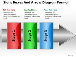 Business PowerPoint Templates static boxes and arrow diagram free format Sales PPT Slides