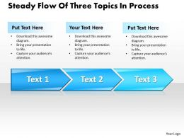 Business PowerPoint Templates steady flow of three topics process Sales PPT Slides