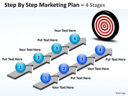 Business PowerPoint Templates step by marketing plan Sales PPT Slides
