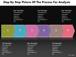 Business PowerPoint Templates step by picture of the process for analysis Sales PPT Slides