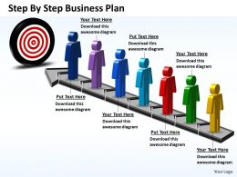 Business PowerPoint Templates step by plan Sales PPT Slides