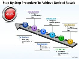 Business PowerPoint Templates step by procedure to achieve desired result Sales PPT Slides