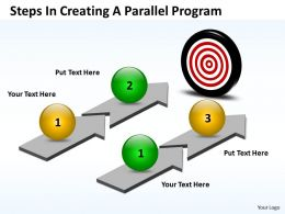 Business PowerPoint Templates steps creating parallel program Sales PPT Slides