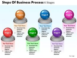 Business PowerPoint Templates steps of process 6 stages presentation 0812 Sales PPT Slides