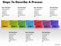 Business PowerPoint Templates steps to describe process Sales PPT Slides 7 stages