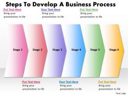 Business PowerPoint Templates steps to develop process Sales PPT Slides 6 stages