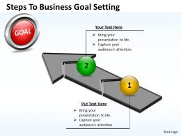Business PowerPoint Templates steps to goal setting Sales PPT Slides
