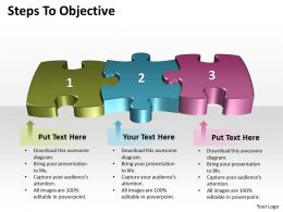 Business PowerPoint Templates steps to objective editable Sales PPT Slides