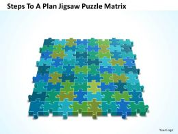 Business PowerPoint Templates steps to plan jigsaw Sales Puzzle matrix PPT Slides