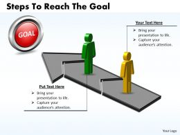 Business PowerPoint Templates steps to reach the goal Sales PPT Slides