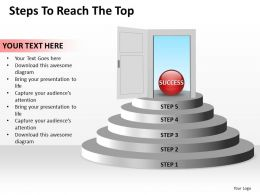 Business PowerPoint Templates steps to reach the top editable Sales PPT Slides