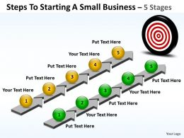 Business PowerPoint Templates steps to starting small Sales PPT Slides