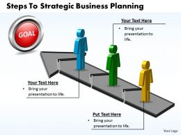 Business PowerPoint Templates steps to strategic planning Sales PPT Slides