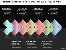 Business PowerPoint Templates straight description to represent seven steps process Sales PPT Slides