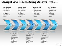 Business PowerPoint Templates straight line process using arrows 7 stages Sales PPT Slides