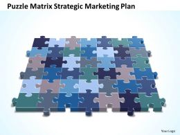 Business PowerPoint Templates Strategy Puzzle matrix strategic marketing plan Sales PPT Slides