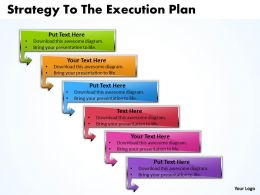 Business PowerPoint Templates strategy to the execution plan Sales PPT Slides 6 stages