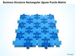 Business PowerPoint Templates structure rectangular jigsaw Problem Solving Puzzle Piece matrix Sales PPT Slides
