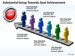 Business PowerPoint Templates substantial setup towards goal achievement Sales PPT Slides