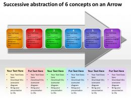 Business PowerPoint Templates successive abstraction of 6 concepts an arrow Sales PPT Slides