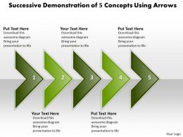 Business PowerPoint Templates successive demonstration of 5 concepts using arrows Sales PPT Slides