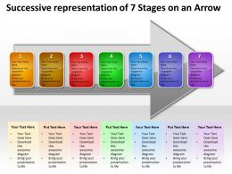 Business PowerPoint Templates successive representation of 7 stages an arrow Sales PPT Slides