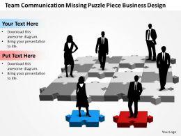 business_powerpoint_templates_team_communication_missing_puzzle_piece_design_sales_ppt_slides_Slide01