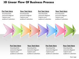Business PowerPoint Templates the 3d linear flow of process Sales PPT Slides
