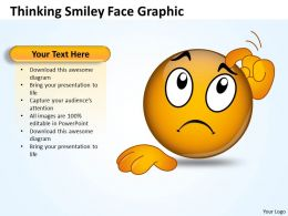 Business PowerPoint Templates thinking smiley face graphic Sales PPT Slides