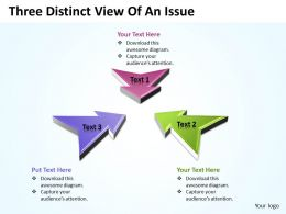 Business PowerPoint Templates three distinct view of an issue Sales PPT Slides 3 stages