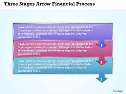 Business PowerPoint Templates three stages arrow financial process Sales PPT Slides