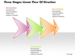 Business PowerPoint Templates three state diagram ppt linear flow of direction Sales Slides
