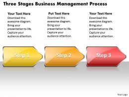 Business PowerPoint Templates three state diagram ppt management process Sales Slides