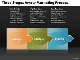 Business PowerPoint Templates three state ppt diagram arrow marketing process Sales Slides