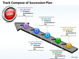 Business PowerPoint Templates track compose of succession plan Sales PPT Slides