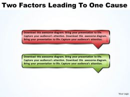 Business PowerPoint Templates two factors leading one cause Sales PPT Slides 2 stages