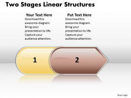 Business PowerPoint Templates two stage linear structures Sales PPT Slides