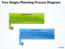 Business PowerPoint Templates two stage planning process diagram Sales PPT Slides 2 stages