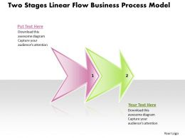 Business PowerPoint Templates two stages linear flow process model Sales PPT Slides