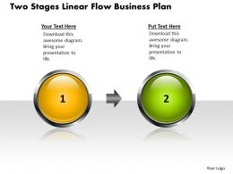 Business PowerPoint Templates two stages linear flow theme plan Sales PPT Slides