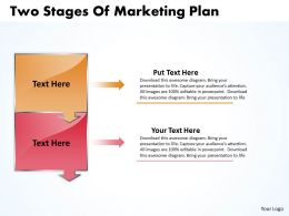 Business PowerPoint Templates two state diagram ppt of marketing plan Sales Slides 2 stages