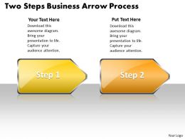 Business PowerPoint Templates two steps arrow process Sales PPT Slides