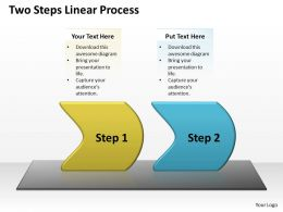 Business PowerPoint Templates two steps linear forging process slides Sales PPT