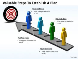 Business PowerPoint Templates valuable steps to establish plan Sales PPT Slides