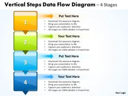 Business PowerPoint Templates vertical steps data flow diagram Sales PPT Slides