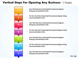 Business PowerPoint Templates vertical steps for opening any Sales PPT Slides