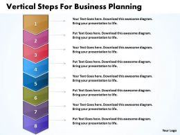 Business PowerPoint Templates vertical steps for planning Sales PPT Slides