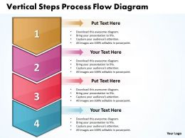 Business PowerPoint Templates vertical steps process flow diagram Sales PPT Slides